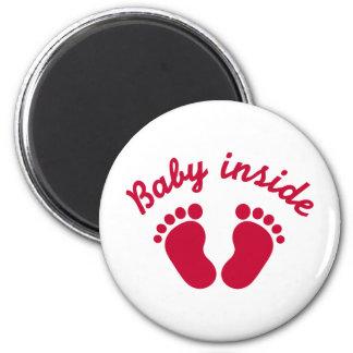 Baby inside feet refrigerator magnets