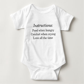 Baby Instructions Baby Bodysuit