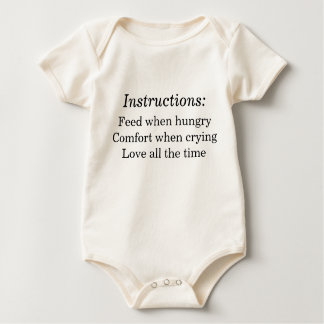 Baby Instructions Organic Baby Bodysuit