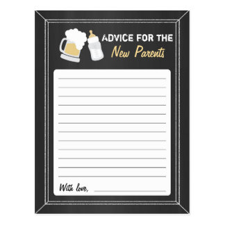 """Baby Is Brewing"" Advice Postcard"