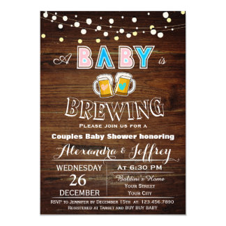 Baby Is Brewing Baby Shower Invitation