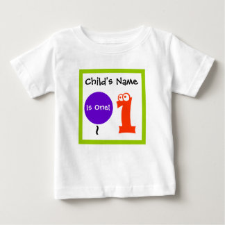 baby is one 1 , 1st first Birthday,t-shirt Baby T-Shirt