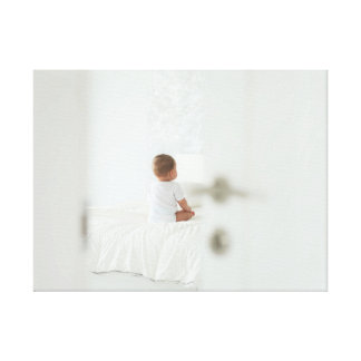 Baby is waiting for you canvas print