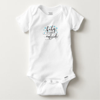 Baby it's cold outside baby onesie