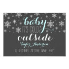 Baby it's Cold Outside Baby Shower Registry Insert Card