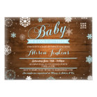 Baby It's Cold Outside Blue Baby Shower Invite