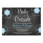 Baby It's Cold Outside Blue Snowflakes Baby Shower 11 Cm X 16 Cm Invitation Card