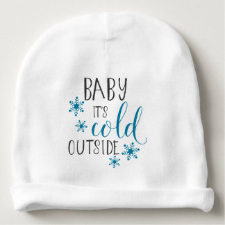 Baby It's Cold Outside Christmas Baby Beanie