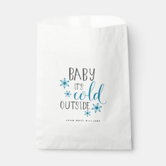 Baby It's Cold Outside Christmas Favour Bag
