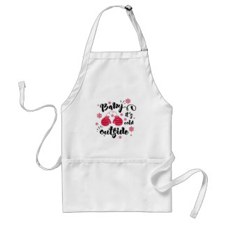 Baby its cold outside cute mittens winter standard apron