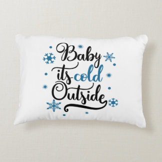 baby its cold outside decorative cushion
