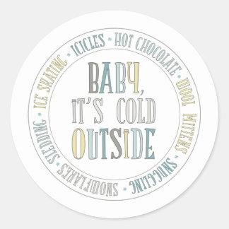 Baby It's Cold Outside Fun Winter Sticker