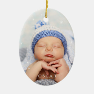 Baby It's Cold Outside in Serenity Blue Ceramic Oval Decoration