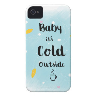 Baby it's cold outside iPhone 4 cover