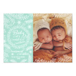 Baby it's Cold Outside Mint Holiday Photo Card Invite