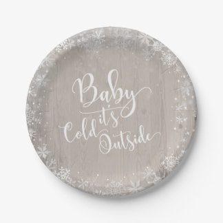 "Baby It's Cold Outside Paper Party 7"" Plates"