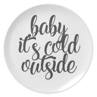 Baby It's Cold Outside Plate