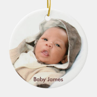 Baby James First Christmas Ornament