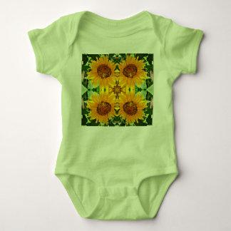"Baby Jersey Body Suit ""sunflowers' Baby Bodysuit"