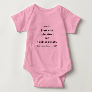 Baby Jersey Bodysuit I Just Want Kisses