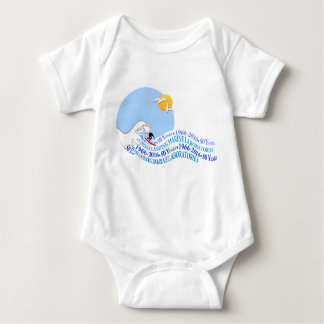 Baby jersey bodysuit: MLML 50th wave Baby Bodysuit