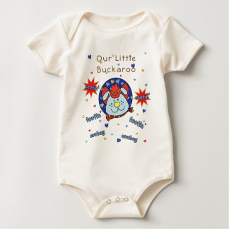 "Baby Jersey Bodysuit ""Tootin' Cowboy"" Personalize"