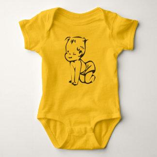 Baby Jersey Bodysuit with cartoon baby motive