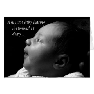 Baby Jesus Card