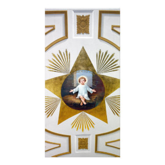Baby Jesus decorative artwork Photo Card Template