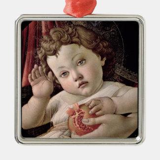 Baby Jesus Holding Pomegranate Metal Ornament