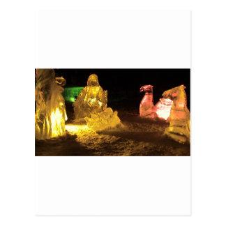 Baby Jesus in ice Postcard
