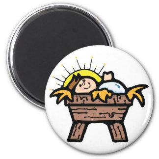baby jesus 6 cm round magnet