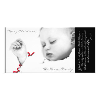 Baby Jesus Photo Card Template