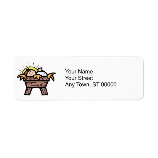 baby jesus return address label