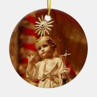 Baby Jesus Round Ceramic Decoration
