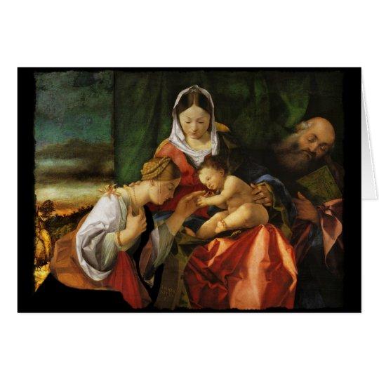 Baby Jesus Saint Catherine and Mary Card