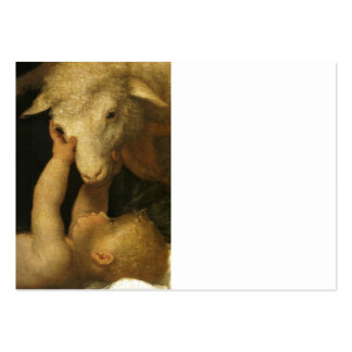 Baby Jesus Touches Lamb Pack Of Chubby Business Cards