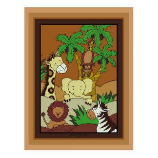 Baby Jungle 10-Baby Shower Invitation Postcard