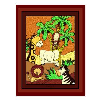 Baby Jungle 11-Baby Shower Invitation Postcard