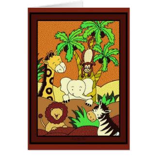 Baby Jungle 11 Card
