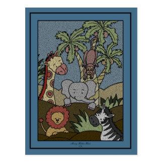 Baby Jungle 16-Baby Shower Invitation Postcard