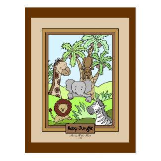 Baby Jungle 20-Baby Shower Invitation Postcard