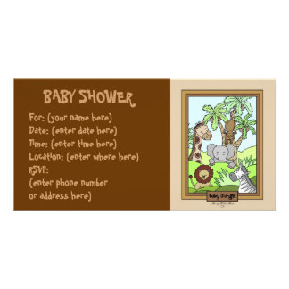 Baby Jungle 20 Baby Shower Photo Cards