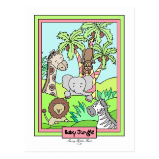 Baby Jungle 26-Baby Shower Invitation Post Card
