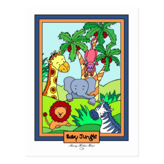 Baby Jungle 28-Baby Shower Invitat... - Customized Postcard