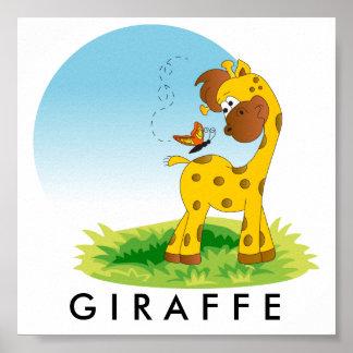 Baby Jungle Giraffe Poster
