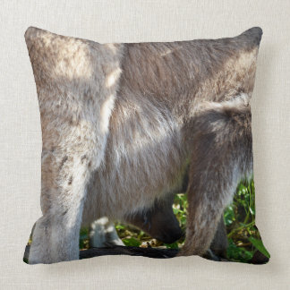 Baby Kangaroo Takes A Ride, Large Throw Cushion. Cushion
