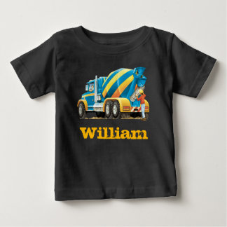 Baby Kids Custom Construction Truck Concrete Mixer Baby T-Shirt