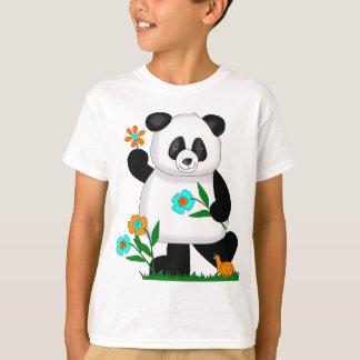 Baby Kids Panda With Flowers 2 T-Shirt