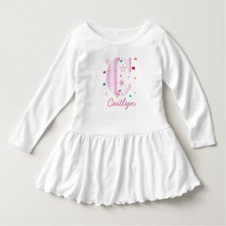 Baby Kids Typography Monogram with Stars Dress